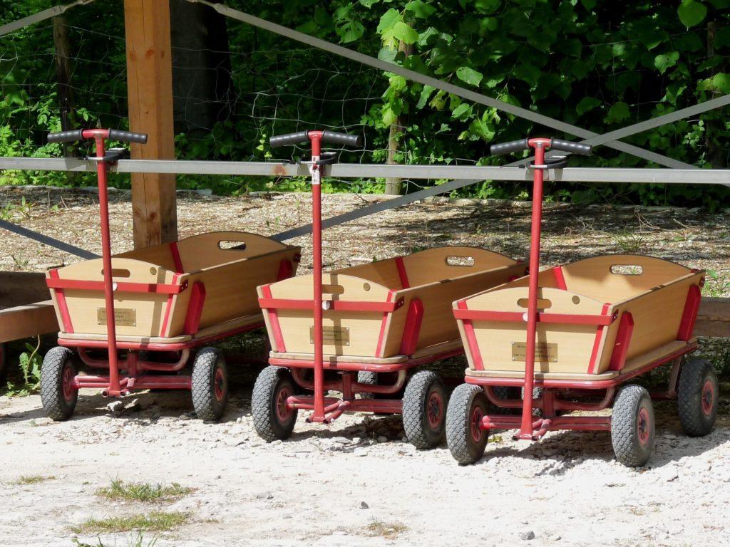 Vatertag mit Bollerwagen