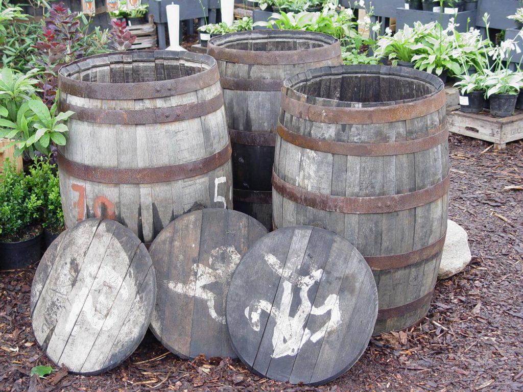 Weinfässer Dekoration